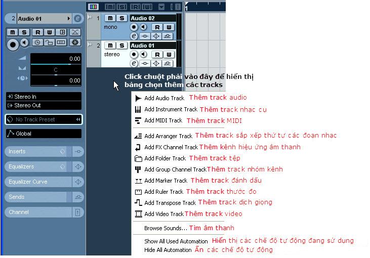 Cac tracks trong Nuendo.jpg